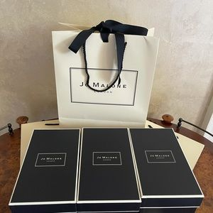 Jo Malone  bundle  of 3 gift boxes with bags